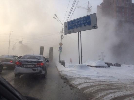 Порыв на теплотрассе Томска не устранили и неизвестно когда устранят